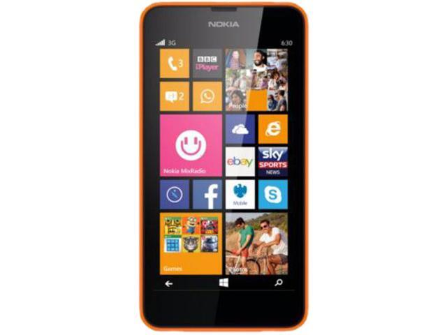 Nokia Lumia 630 Orange 3G Quad-Core 1.2GHz Unlocked Cell Phone