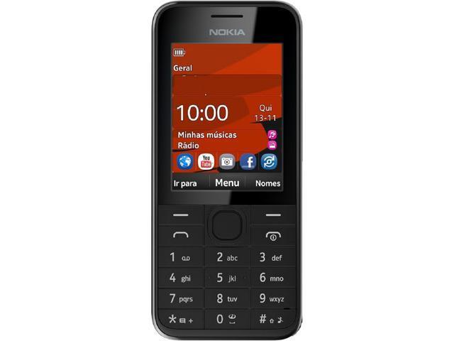 Nokia 208 Black Unlocked GSM 3G Cell Phone w/ 1.3 MP Camera