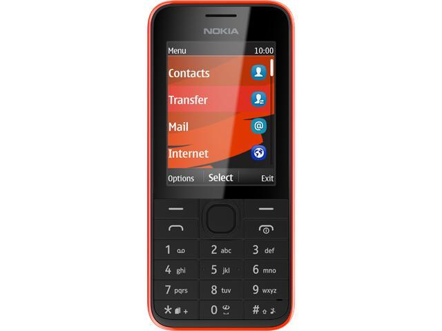 Nokia 208 Red/Black Unlocked GSM 3G Cell Phone w/ 1.3 MP Camera