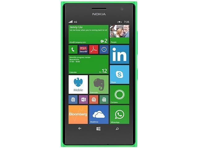 Nokia Lumia 735 Green 3G 4G LTE Quad-Core 1.2GHz Unlocked Cell phone