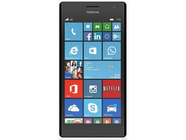 Nokia Lumia 735 White 3G 4G LTE Quad-Core 1.2GHz Unlocked Cell phone