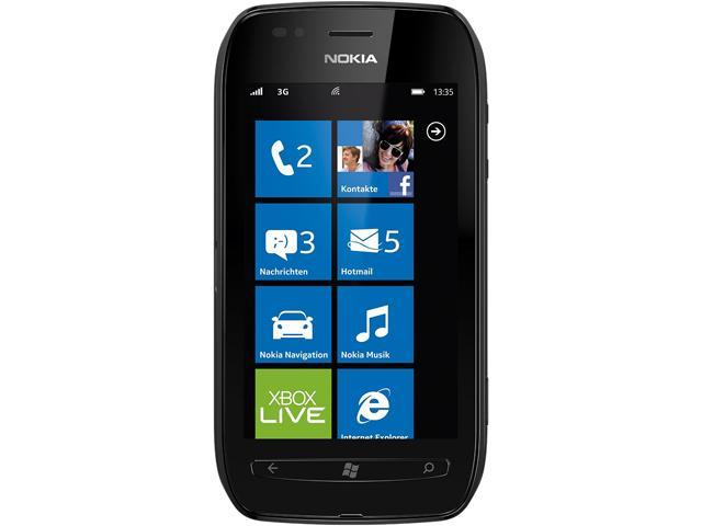 Nokia Lumia 710 Black 1.4GHz Unlocked GSM Windows 7.5 OS Cell Phone