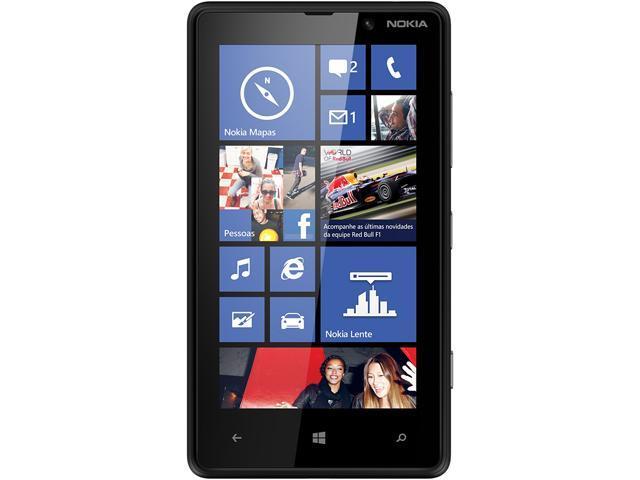 Nokia Lumia 820 RM-824 Black 3G 4G LTE Dual-Core 1.5GHz 8GB Unlocked GSM Windows 8 Cell Phone