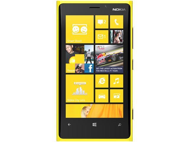 Nokia Lumia 920 RM-820 Yellow 3G LTE Dual-Core 1.5GHz 32GB AT&T Unlocked GSM Windows 8 Phone