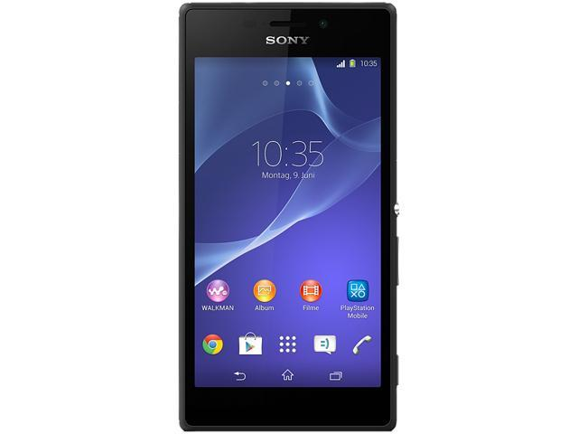 "Sony Xperia M2 D2305 8 GB, 1 GB RAM Unlocked Cell Phone 4.8"" Black"
