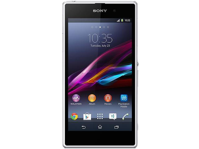 Sony Xperia Z1 C6906 White 3G 4G LTE Quad-Core 2.2GHz Unlocked Cell Phone