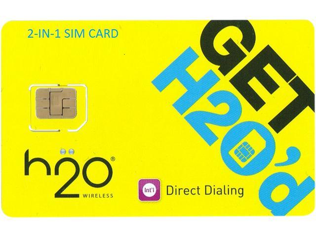 H2O 2-in-1 SIM Card (Standard and Micro) - $50 Airtime with 1 Month of Unlimited Service and 2GB of Data