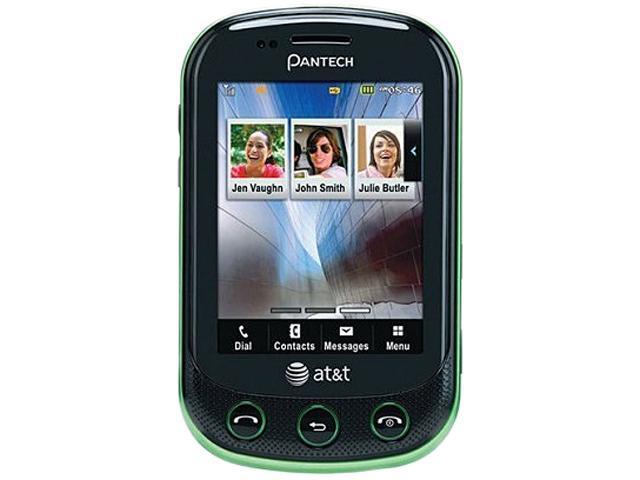 PANTECH Pursuit 2 P6010 Green 3G Unlocked GSM Slider Cell Phone