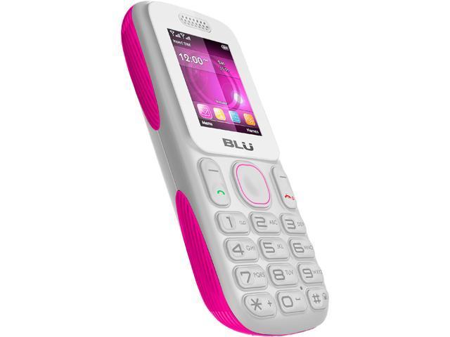 Blu Tank T190 White / Pink Unlocked Dual SIM Cell Phone