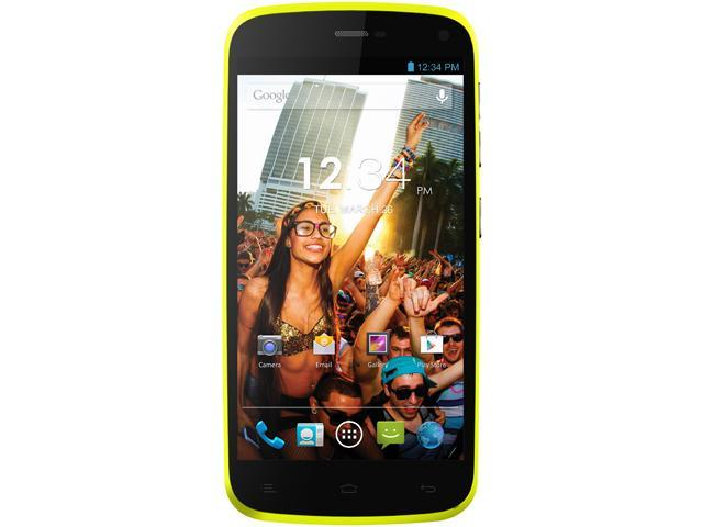 Blu Life Play L100A Yellow 3G Quad-Core 1.2GHz Unlocked GSM Dual-SIM Android Cell Phone