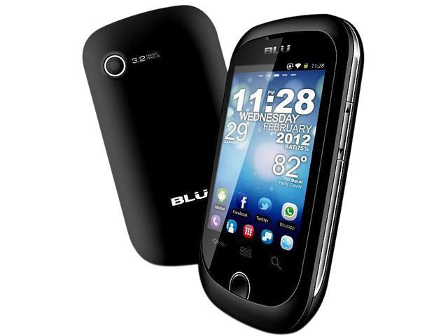 Blu Dash Junior D140 Black 1.0GHz Unlocked GSM Dual-SIM Android Cell Phone
