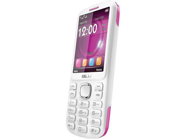 Blu Jenny TV 2.8 T1762T White/Pink Unlocked GSM Dual-SIM Cell Phone