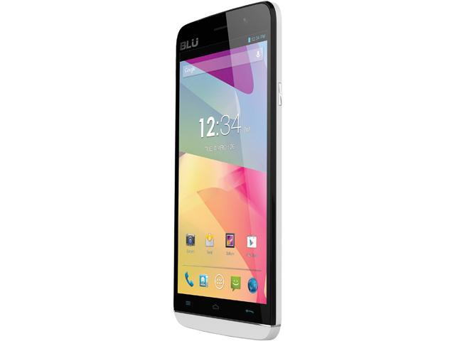 Blu Studio 5.5 S D630u White Quad-Core 1.3GHz Unlocked GSM Dual-SIM Android Cell Phone