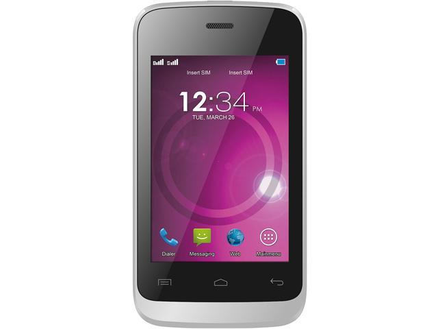 Blu Hero JR S250 Silver Unlocked GSM Dual-SIM Cell Phone