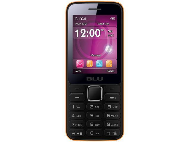 Blu Janet T175 Orange Unlocked GSM Dual-SIM Cell Phone