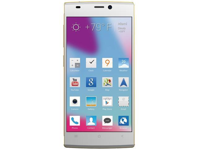 Blu Vivo IV D970L White/Gold 3G Eight-Core 1.7GHz Unlocked GSM Octa-Core Android Phone