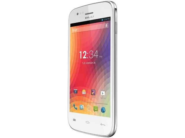 Blu Advance 4.0 A270a White 3G Dual-Core 1.3GHz Unlocked GSM Dual-SIM Android Cell Phone
