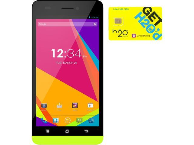 BLU Studio 5.0 LTE Y530Q Yellow 4G LTE Quad-Core Android Phone + H2O SIM Card