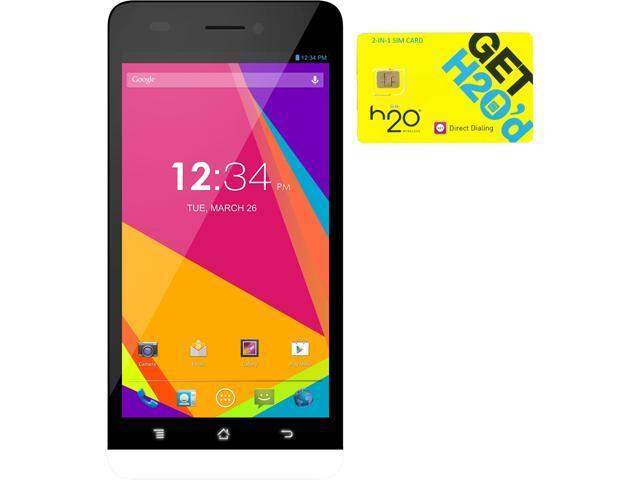 BLU Studio 5.0 LTE Y530Q White 4G LTE Quad-Core Android Phone + H2O $30 SIM Card