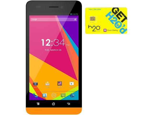 BLU Studio 5.0 LTE Y530Q Orange 4G LTE Quad-Core Android Phone + H2O $50 SIM Card