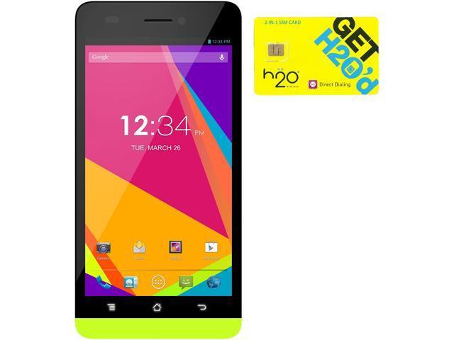 BLU Studio 5.0 LTE Y530Q Yellow 4G LTE Quad-Core Android Phone + H2O $60 SIM Card