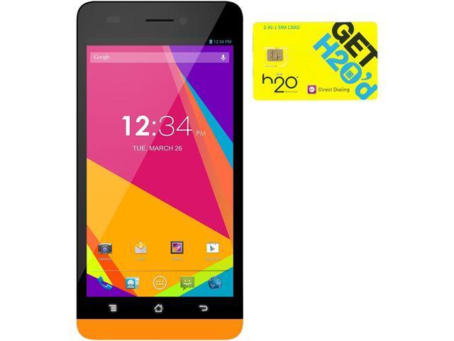 BLU Studio 5.0 LTE Y530Q Orange 4G LTE Quad-Core Android Phone + H2O $60 SIM Card