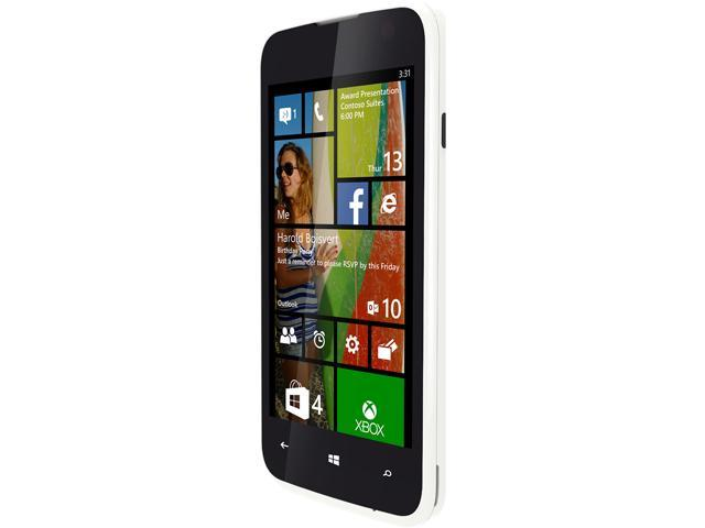 Blu Windows JR W410a White Quad-Core 1.2GHz 4GB Unlocked GSM Windows 8.1 Cell Phone
