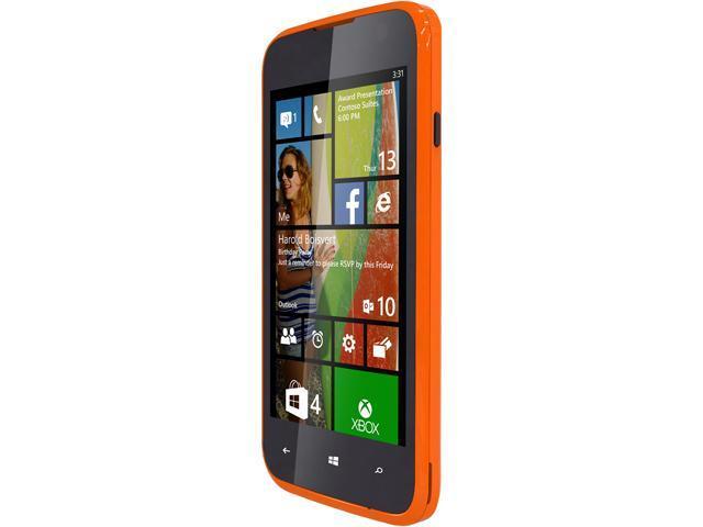 Blu Windows JR W410a Orange Quad-Core 1.2GHz 4GB Unlocked GSM Windows 8.1 Cell Phone