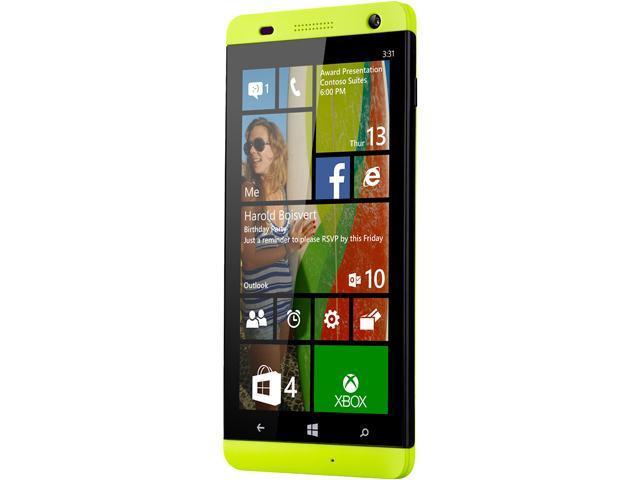 Blu Windows HD W510u Yellow Quad-Core 1.2GHz 8GB Unlocked GSM Windows 8.1 Cell Phone