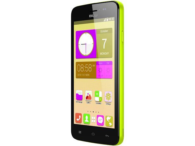Blu Studio 5.0 CE D536 Yellow Dual-Core 1.3GHz Unlocked GSM Dual-SIM Android Cell Phone