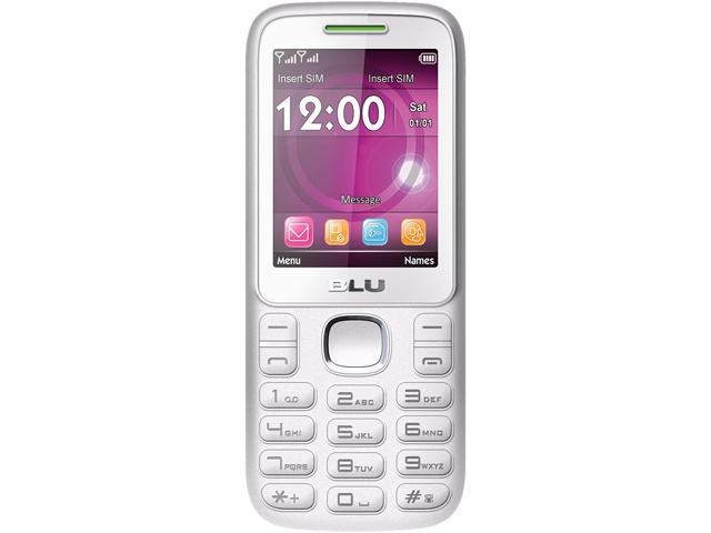 Blu Zoey 2.4 T278 White/Lime Unlocked GSM Dual-SIM Cell Phone