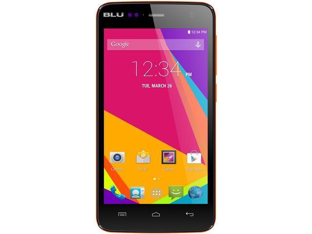 Blu Studio C Mini D670U Orange 3G 4G HSPA+ Quad-Core 1.3GHz 4G HSPA+ Unlocked GSM Dual-SIM Cell Phone