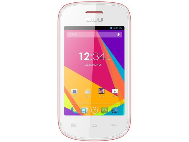 Blu Dash JR TV D141T White/Pink Dual-Core 1.3GHz Unlocked GSM Dual-SIM Android Cell Phone