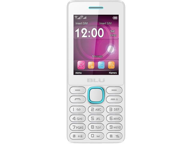 Blu Janet L T230 White/Blue Unlocked GSM Dual-SIM Cell Phone