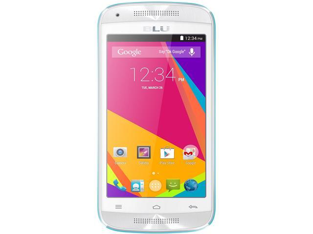 Blu Dash C Music D390U Blue 3G Dual-Core 1.0GHz Unlocked GSM Dual-SIM Android Phone