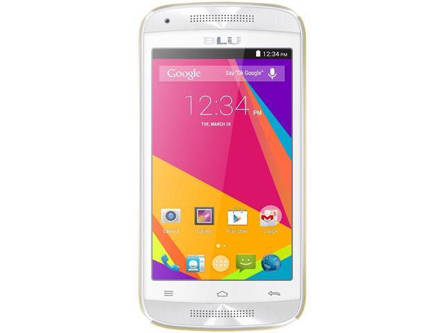 Blu Dash C Music D390U White/Gold 3G Dual-Core 1.0GHz Unlocked GSM Dual-SIM Android Phone