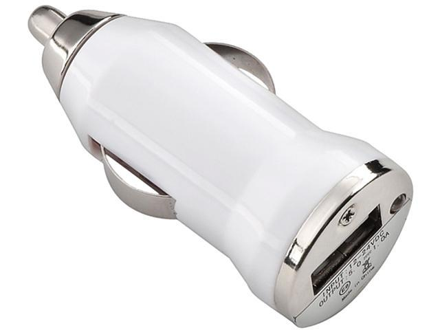 Insten 1354730 White Universal USB Mini Car Charger Adapter Compatible with Cell phone devices