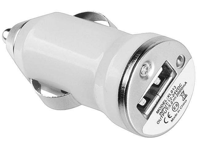 Insten 1848509 White USB Mini Car Charger Adapter