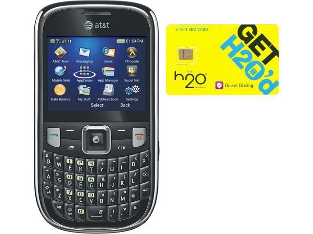 ZTE Z431 Black QWERTY Cell Phone + H2O SIM Card