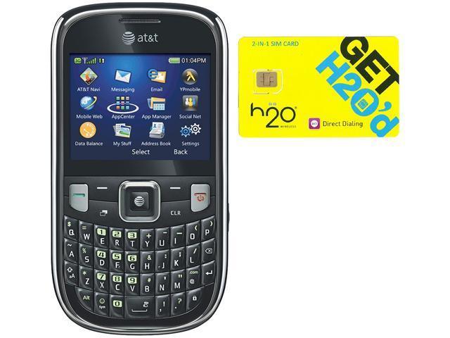 ZTE Z431 Black QWERTY Cell Phone + H2O $50 SIM Card