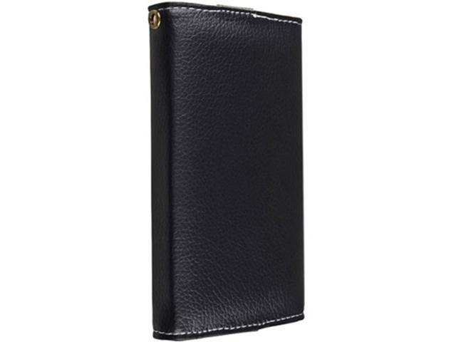 Insten Black Wallet Cell Phone Case Compatible with Apple iPhone 5 / 5C / 5S / HTC Droid Incredible 4G LTE / Nokia Lumia 820 ...