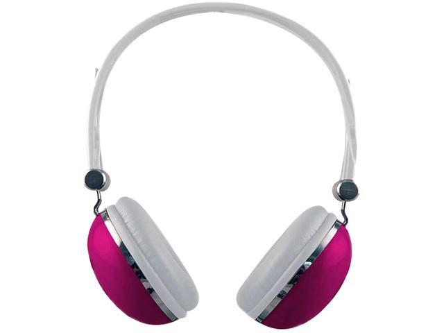 Sentry Pink 3.5mm Retro High Performance Stereo Headphones HO276