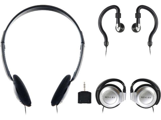 Sentry 3.5mm Headphones with Splitter Plug Pack of 3 Styles 784CD