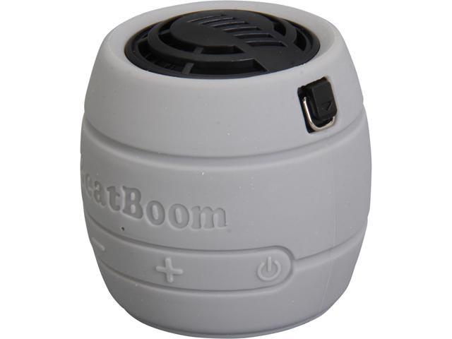 BeatBoom BB3000-SB Silver/Black Portable Wireless Bluetooth Speaker with Built in Speakerphone