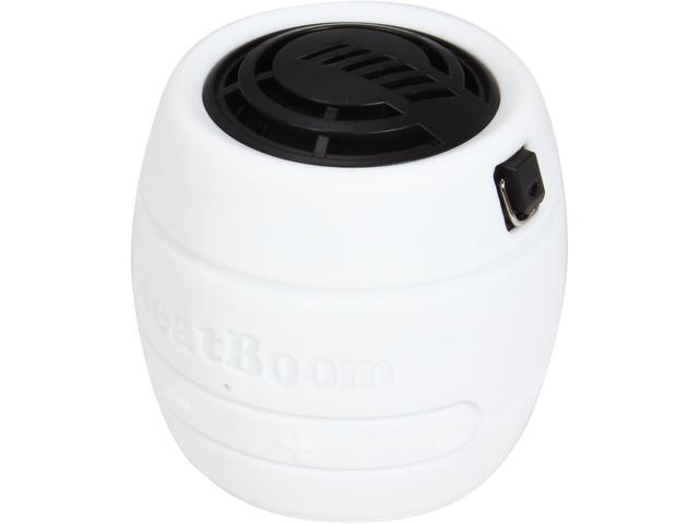 BeatBoom BB3000-WB White/Black Portable Wireless Bluetooth Speaker with Built in Speakerphone