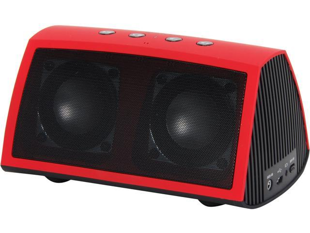 Rosewill R-Studio AMPBOX-Red Bluetooth Portable Speaker, with Built-In Mic and Rechargeable Battery -Retail