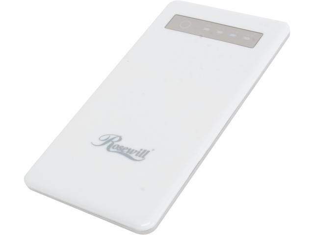 Rosewill Powerbank RCBR-13010-WH White 5000mAh External Backup Battery Charger for Smartphone/iPhone/iPod