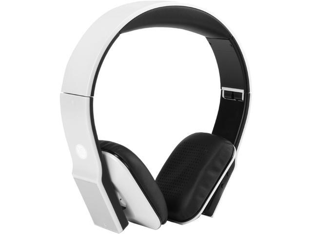 GOgroove GGBVDLX100WTEW White BlueVIBE DLX Hi-Def Bluetooth Headphones with Folding Design & EVA Carrying Case