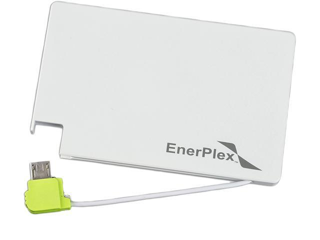EnerPlex Jumpr Mini White with Green Trim 1350 mAh Rechargeable Battery JU-07800-WH