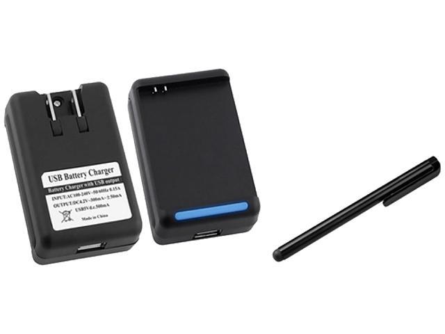 Insten 2X Desktop Battery Charger +Black Touch Screen Stylus Compatible With Samsung Galaxy Note LTE SGH-i717, Galaxy Note N7000